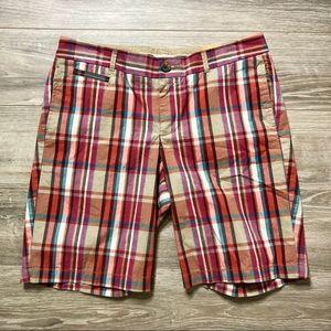 NWT Women's Dockers Bermuda Plaid Shorts Size 8